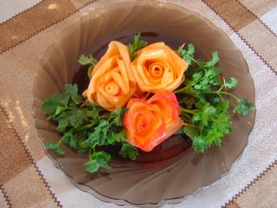 Как сделать украшения из овощей фото пошагово 549