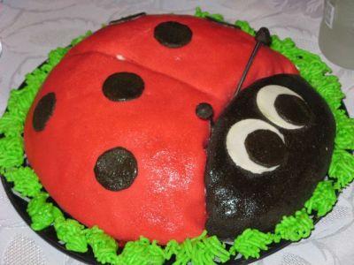 торт божья коровка с мастикой рецепт с фото