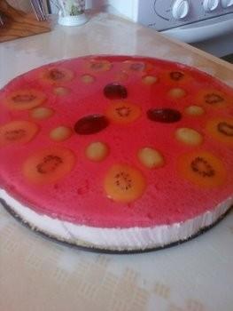 Торт-суфле без выпечки с ягодками Сватовство