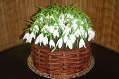торт украсить подснежниками из сливок фото выступают