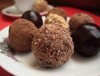рецепт конфет с какао и печеньем