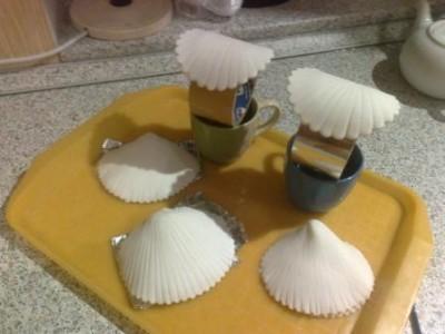 Как сделать раковину для жемчужины из мастики