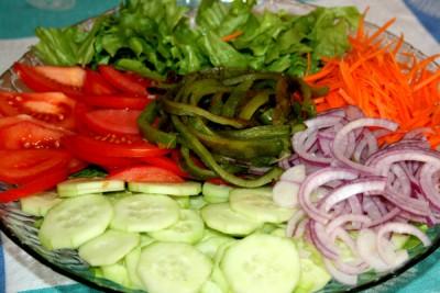 Легкий салат к рыбе