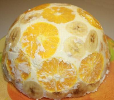 Бисквитный торт с апельсинами рецепт