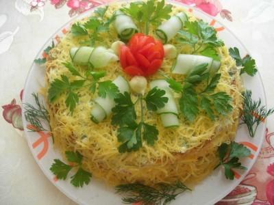 Торт с сыром и кабачками