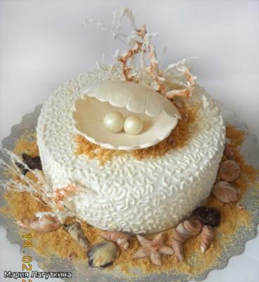 Фото тортов на жемчухную свадьбу