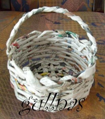 Поделки из газеты своими руками для сада