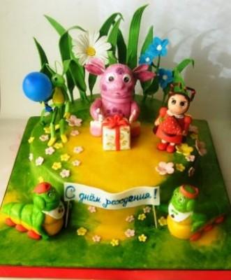 Торт лунтик фото пошагово