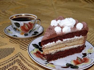 тортик и кофе фото
