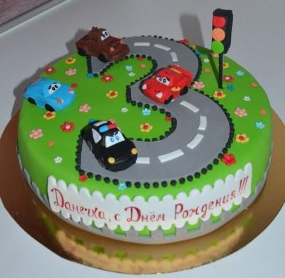 Торт для мальчика 3 года фото