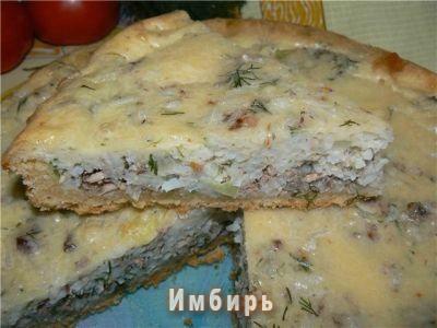 Открытый пирог с рисом