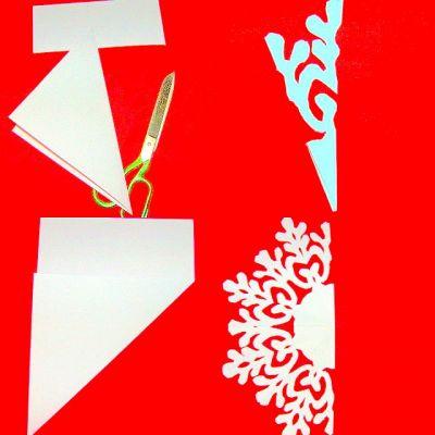 Как сделать снежинку из бумаги фото схемы