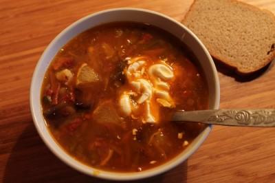 суп солянка рецепт с колбасой в скороварке
