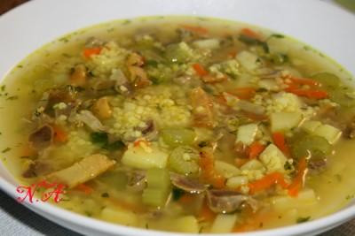 рецепты супов с куриными пупками