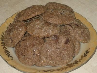 Шоколадное печенье с шоколадом для шоколадоголиков