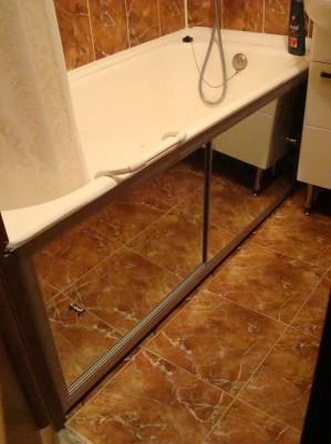 Зеркальный экран под ванную