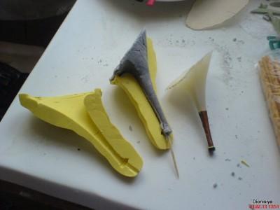 Как сделать из мастики туфли