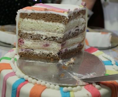 Торт бисквитный двухъярусный