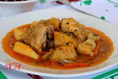 как приготовить вкусный соус из курицы с картошкой
