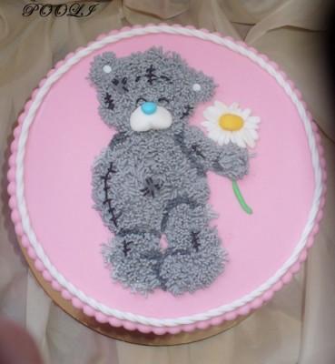 Торт в виде мишки тедди фото