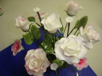 Букет из цветов из мастики мастер класс пошагово