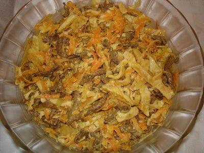 Салат мао дзе дун с омлетом рецепты с