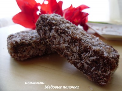 рецепт медовых палочек в шоколаде