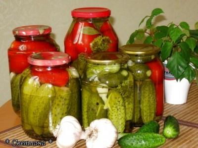 Огурцы и помидоры соленые рецепт с фото