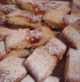 Печенье полосочки с джемом(печенье на белках)