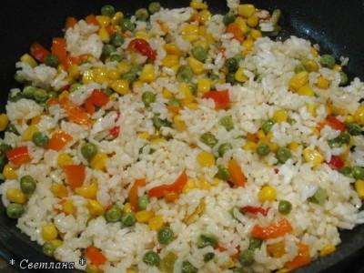 как приготовить ризотто с кукурузой и горошком