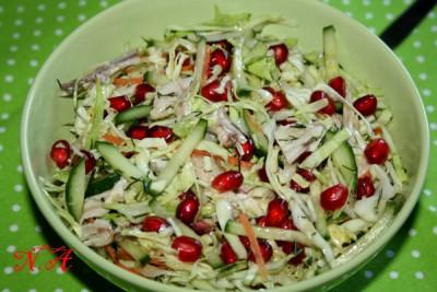 салат с курицей и гранатом рецепт