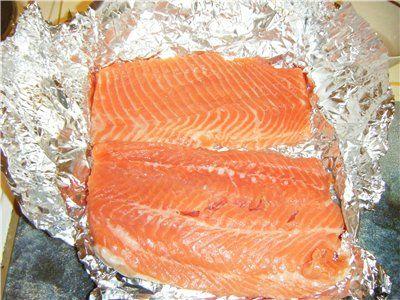 Рецепт Еще один рецепт засолки красной рыбы.