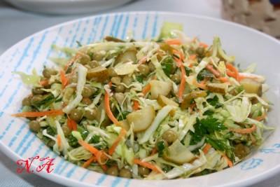 огурцом моркови соленым Салат с из