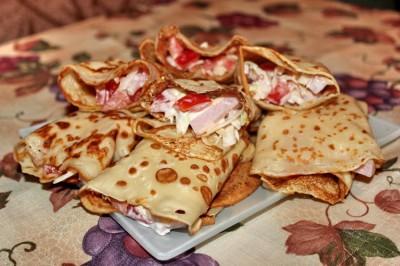Рецепт тоненьких блинов с начинкой