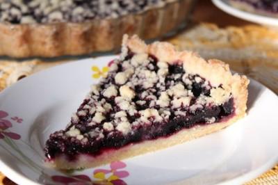 Постный пирог с черникой