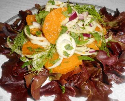 салат из фенхеля и апельсина рецепт