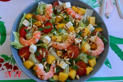 Салат соблазн с креветками