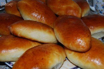Тесто для пирожков на сухих дрожжах на воде рецепт пошагово