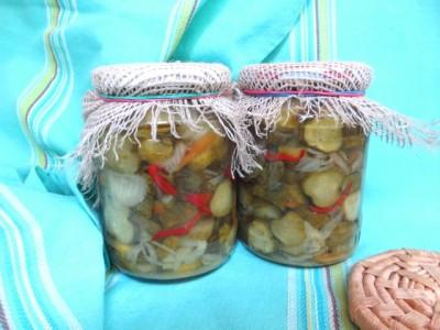 Маринованный огурцы в томате на зиму рецепты