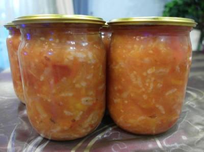 Салат лечо с рисом на зиму рецепт