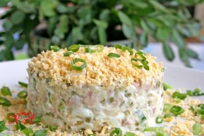 Северный салат с треской