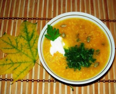 тыквенный суп с пшеном