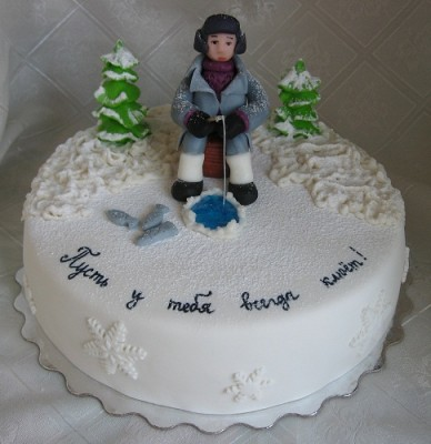 Фото торта для рыбака со свечами
