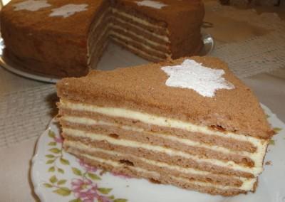 рецепт торта медово творожного