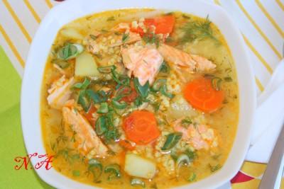 рецепт супа из семги с фото