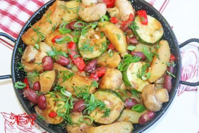 жаркое на сковороде из курицы рецепт