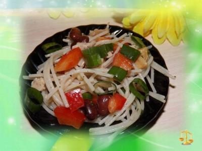 Салат с маринованной фунчозой рецепт