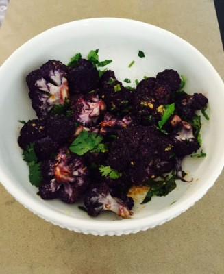 блюда из фиолетовой цветной капусты