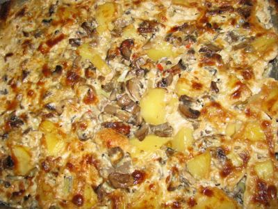 рецепт тушЮного картофеля с грибами #13