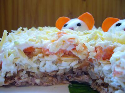салат мимоза рецепт без картофеля и моркови